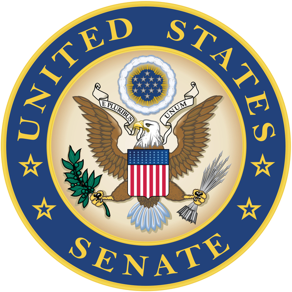 Description: Alternative Seal of the United States Senate often used in place of the official seal.   Image/Text (modified) credit WikiMedia Commons - by Ipankonin. License: 'This work is in the public domain in the United States because it is a work of the United States Federal Government under the terms of Title 17, Chapter 1, Section 105 of the US Code.'